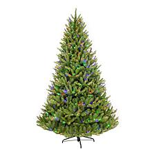 7.5' Franklin Fir Artificial Tree w/750 Clear/Multi-Colored LED Lights