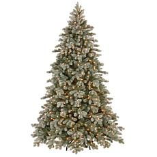 7.5 ft. FEEL-REAL® Frosted Colorado Spruce Tree with Clear Lights