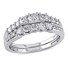 .82ctw Engagement Ring and Wedding Band 14K Gold 2pc Se