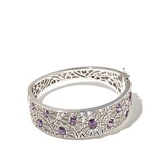 8.38ctw Absolute™ Clear and Purple Bangle