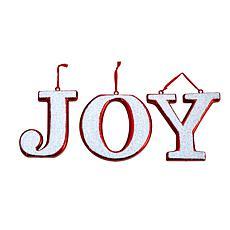 "8.5"" Joy Holiday Deluxe Shatterproof Ornament - Set of 3"