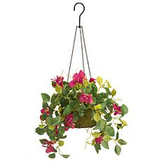 "9"" Bougainvillea Plant Artificial Hanging Basket"