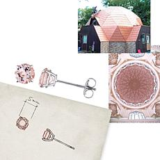 .96ctw Morganite 14K White Gold Stud Earrings