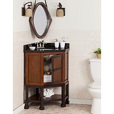 Abbot Corner Bath Vanity Sink with Granite Top