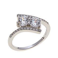 Absolute™ 1.24ctw Cubic Zirconia Bypass Ring