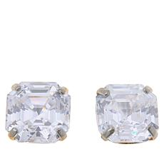 Absolute™ 14K Gold Cubic Zirconia Asscher-Cut Earrings - 4ctw