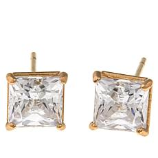 Absolute™ 1.50ctw CZ 14K Princess Stud Earrings