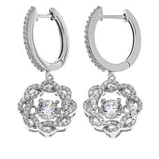 Absolute™ 1.83ctw CZ  Braided Halo Dangle Earrings