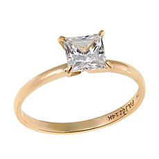 Absolute™ 1ctw CZ 14K Princess Solitaire Ring