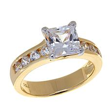Absolute™ 2.48ctw Cubic Zirconia Gold-Plated Band Ring