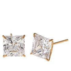 Absolute™ 2.50ctw CZ 14K Princess Stud Earrings