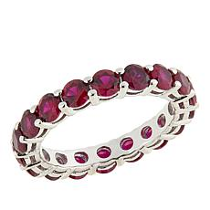 Absolute™ 2.85ctw Created Ruby Round Prong-Set Eternity Ring