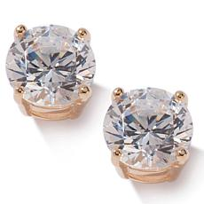 Absolute™ 2ctw CZ 4-Prong Stud Gold-Plated Earrings