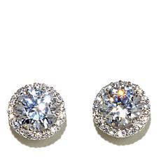 Absolute™ 3.38ctw Cubic Zirconia Round Frame Studs