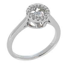 Absolute™ .37ctw Dancing CZ  Round Halo Ring