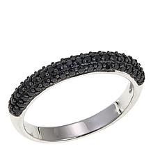 Absolute™ .59ctw Black Cubic Zirconia  Band Ring