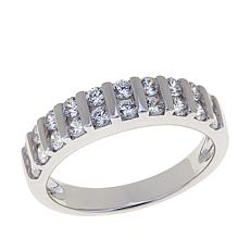 Absolute™ .60ctw Bar-Set Double Rounds Band Ring