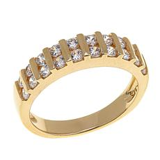 Absolute™ .6ctw CZ Bar-Set Double Rounds Band Ring