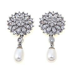 Absolute™ and Cultured Pearl Cluster Earrings