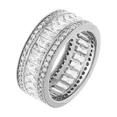 Absolute™ Baguette and Round-Cut Cubic Zirconia Eternity Band Ring
