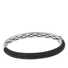 Absolute™ Black Cubic Zirconia Domed Bangle Bracelet