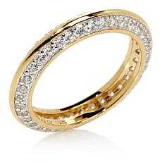 Absolute™ Cubic Zirconia Gold-Plated Eternity Ring