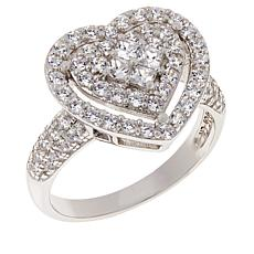 Absolute™ Cubic Zirconia Pavé Cluster Ring