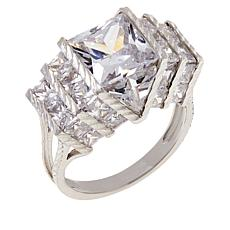 Absolute™ Cubic Zirconia Quadrillion-Cut Statement Ring