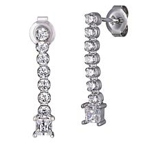 Absolute™ Cubic Zirconia Round and Princess Dangle Earrings