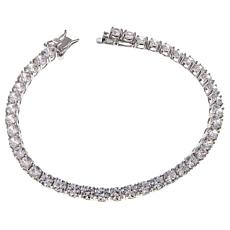 Absolute™ CZ 4mm Round Prong-Set Line Bracelet