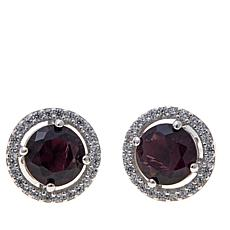 Absolute™ CZ and Simulated Amethyst Earrings