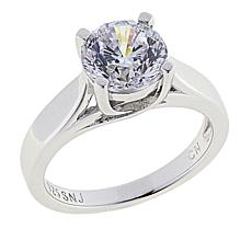 Absolute™ CZ Aurora Star 101 Facets Platinum-Plated Round Ring