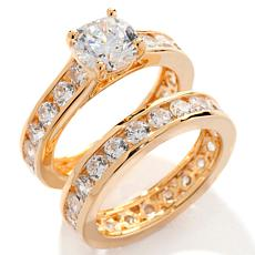 Absolute™ CZ Channel-Set Eternity Band 2-piece Ring Set
