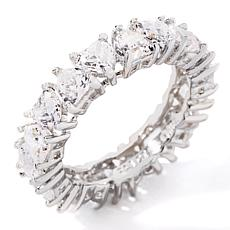 "Absolute™ CZ ""Eternal Love"" Heart-Shaped Eternity Ring"