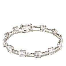 Absolute™ CZ Sterling Silver Baguette & Round Bracelet