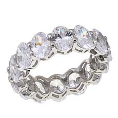 Absolute™ CZ Sterling Silver Oval Eternity Band Ring