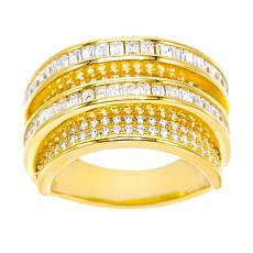 Absolute™ Gold-Plated Cubic Zirconia Crossover Ring