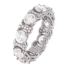 Absolute™ Round-Cut Cubic Zirconia Link Style Eternity Band Ring
