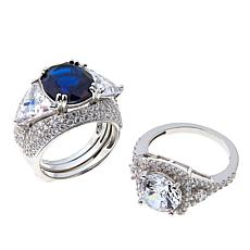 Absolute™ Simulated Gem and CZ Interchangeable 3pc Ring Guard Set