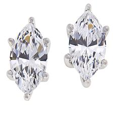 Absolute™ Sterling Silver 2ctw Cubic Zirconia Marquise Stud Earrings