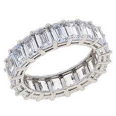 Absolute™ Sterling Silver Cubic Zirconia Prong-Set Eternity Ring