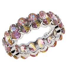 Absolute™ Sterling Silver Mixed-Color Cubic Zirconia Eternity Ring