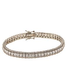 Absolute™ Sterling Silver Princess and Round Tennis Bracelet