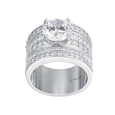 Absolute™ Sterling Silver Round-Cut Cubic Zirconia Solitaire Ring