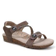 Aetrex® Jillian Braided Sandal with Lynco™ Orthotics