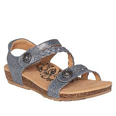 Aetrex® Jillian Braided Wedge Sandal