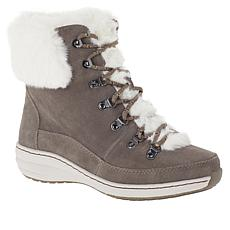 Aetrex® Jodie Waterproof Suede Lace-Up Ankle Boot