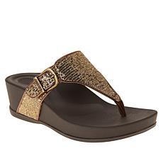 Aetrex® Kate Orthotic Thong Wedge Sandal