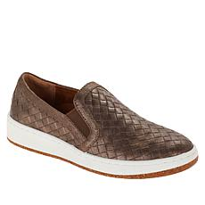 Aetrex® Kenzie Woven Leather Slip-On Loafer