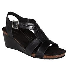 Aetrex® Kiera Leather Wedge Sandal